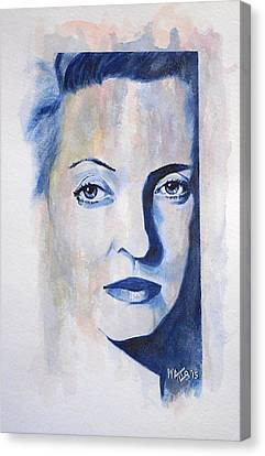 Bette Davis Canvas Print by William Walts