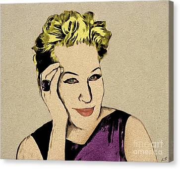 Bette Midler Canvas Print by Sergey Lukashin