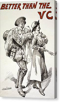 Better Than The Vc Canvas Print by Harry Furniss