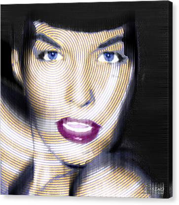 Bettie Page Improved Canvas Print by Tony Rubino