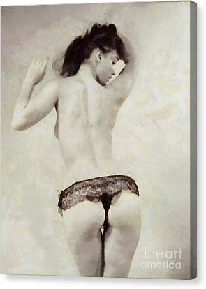 Bettie Page, Pin Up Artist Canvas Print by Frank Falcon