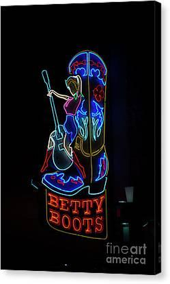 Betty Boots Canvas Print by David Bearden