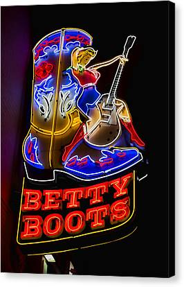 Nashville Tennessee Canvas Print - Betty Boots by Stephen Stookey