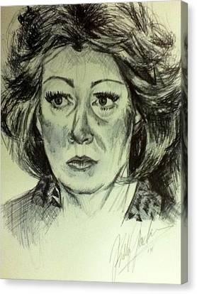 Betty Loren Maltese  Canvas Print by Billy Jackson