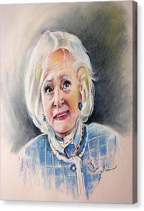 Betty White In Boston Legal Canvas Print by Miki De Goodaboom