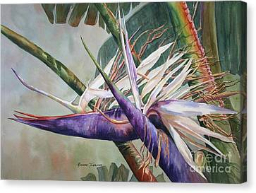 Canvas Print featuring the painting Betty's Bird - Bird Of Paradise by Roxanne Tobaison