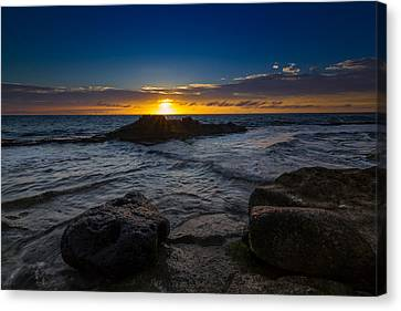 Between A Rock And Hard Place Canvas Print