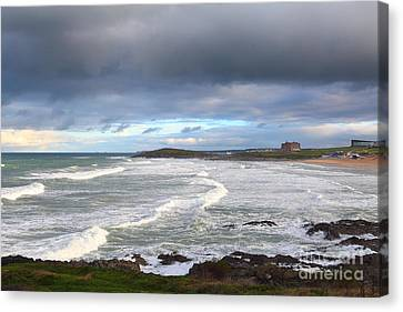 Canvas Print featuring the photograph Between Cornish Storms 1 by Nicholas Burningham