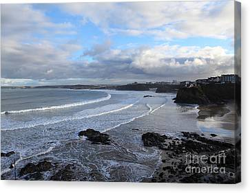 Canvas Print featuring the photograph Between Cornish Storms 2 by Nicholas Burningham