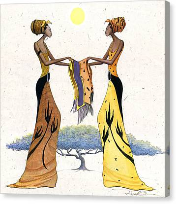 Between Friends Canvas Print by Albert Fennell