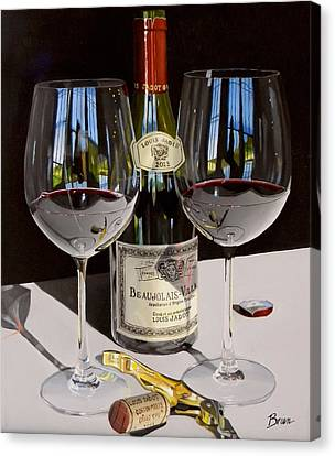 Virginia Wine Canvas Print - Between Friends by Brien Cole