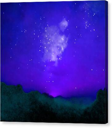 Starry Night - Zen Canvas Print by Stacey Chiew