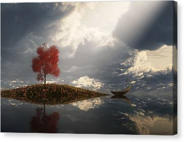 Between Heaven And Earth Canvas Print by Melissa Krauss