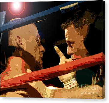 Between Rounds Canvas Print by David Lee Thompson