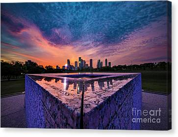 Police Officer Canvas Print - Between Sunset And Sunrise by Katya Horner