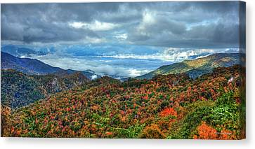 Smokey Mountains Canvas Print - Between The Clouds Blue Ridge Parkway North Carolina Art by Reid Callaway