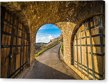 Between Two Doors Canvas Print by Motty Henoch