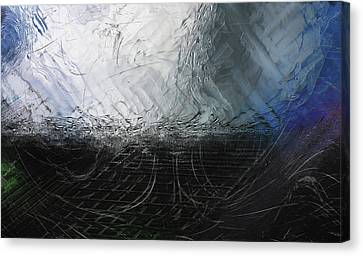 Canvas Print featuring the digital art Between Us, This Melancholy Sea by Wendy J St Christopher