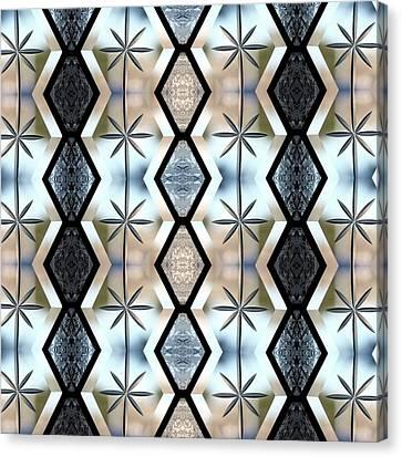 Canvas Print featuring the digital art Beveled Glass Design by Ellen Barron O'Reilly