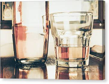 Beverage Picture On A Glass Of Golden Rum 50ml Canvas Print by Jorgo Photography - Wall Art Gallery