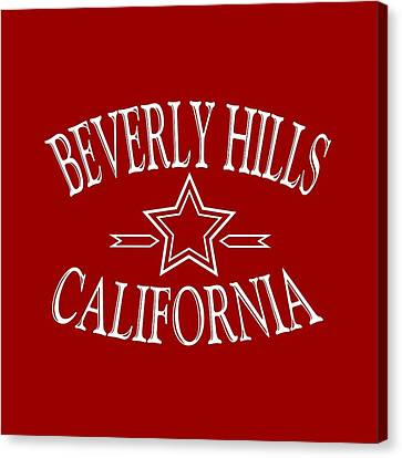 Beverly Hills California Design Canvas Print