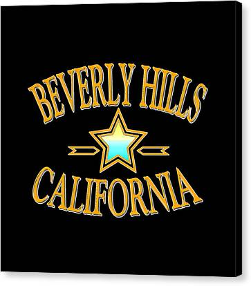 Beverly Hills California Star Design Canvas Print