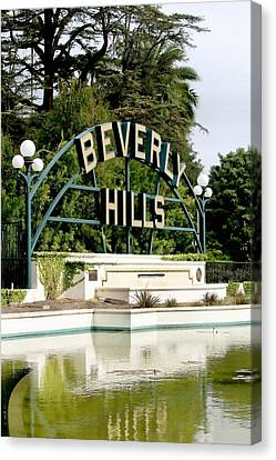 Beverly Hills Reflection Canvas Print