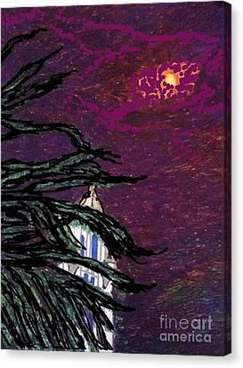Beverly Hills Spotlight  Canvas Print
