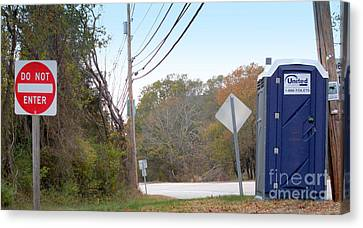 Real Experiences Canvas Print - All Hope Abandon, Ye Who Enter Here by Rick Maxwell