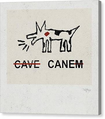 Beware Of The Dog Canvas Print by Gala Sofie Kuhn
