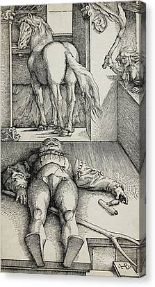 Bewitched Groom Canvas Print by Hans Baldung Grien