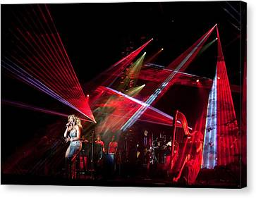 Barack Canvas Print - Beyonc Performs During The State Dinner by Everett