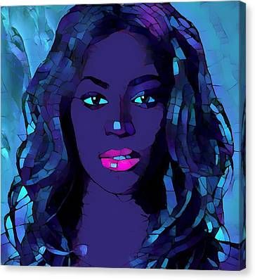 Beyonce Graphic Abstract Canvas Print by Dan Sproul