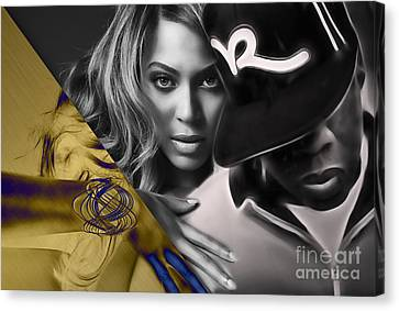 Beyonce Jay Z Collection Canvas Print