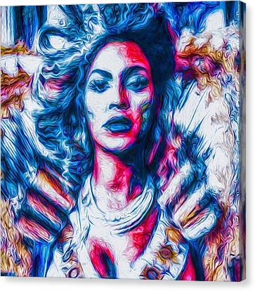 #beyonce #jayz #nyc #newyork #brooklyn Canvas Print by David Haskett