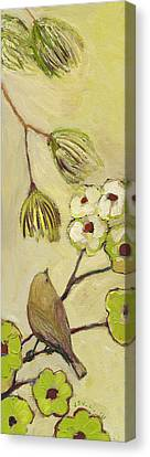 Beyond The Dogwood Tree Canvas Print by Jennifer Lommers