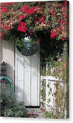 Beyond The Garden Gate Canvas Print by Suzanne Gaff