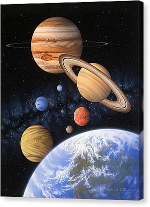 Beyond The Home Planet Canvas Print by Lynette Cook