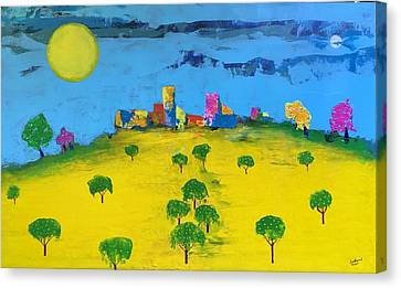 Beyond The Lemon Grove Canvas Print