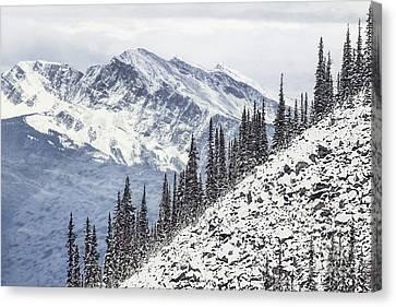 Beyond The Northern Hills Canvas Print by Evelina Kremsdorf