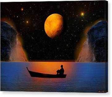 Canvas Print featuring the photograph Beyond The Stars by Bernd Hau