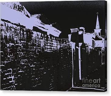 Beyond The Cemetery Wall Canvas Print by JoNeL Art