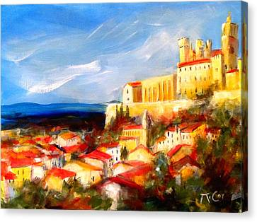Beziers Canvas Print by K McCoy
