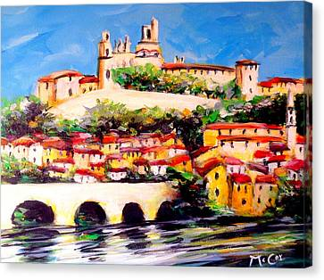 Beziers Reflections Canvas Print
