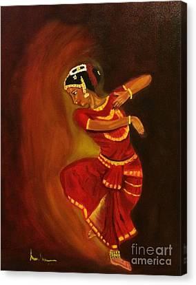 Bharatnatyam Dancer Canvas Print by Brindha Naveen