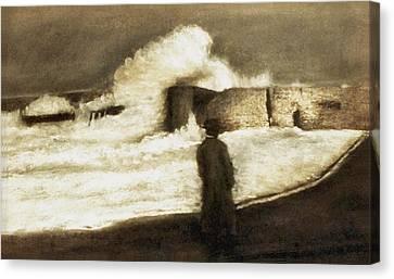 Biarritz 1909 Canvas Print by Mushtaq Bhat