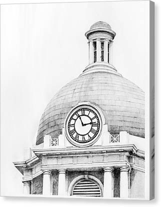 Bibb Courthouse 1 Canvas Print by Danyelle McDow