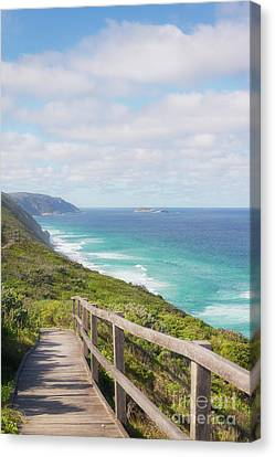 Canvas Print featuring the photograph Bibbulmun Track Albany Wind Farm by Ivy Ho