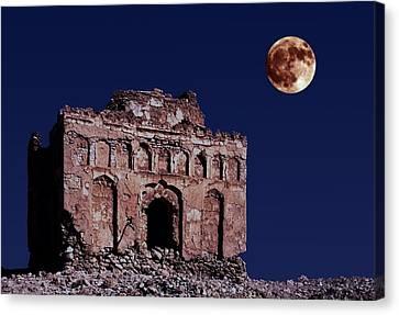 Bibi Maryam's Tomb By Moonlight  Canvas Print by John Rocha
