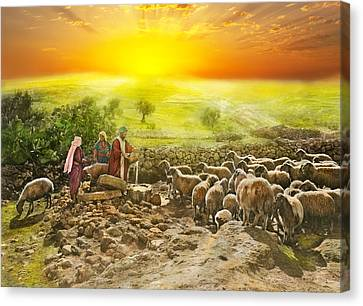 Bible - Psalm 23 - My Cup Runneth Over 1920 Canvas Print